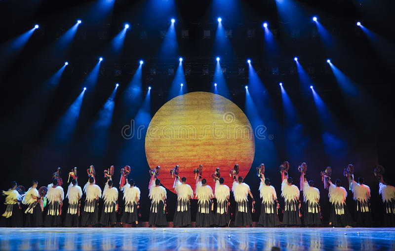 Download Chinese Yi ethnic dancers editorial stock photo. Image of costume - 21141413