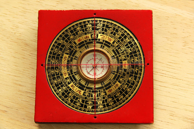 Chinese Yin Yang compass royalty free stock photos
