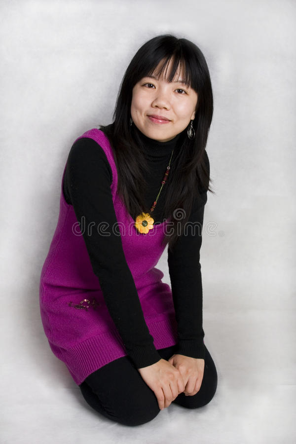 Chinese young girl royalty free stock images