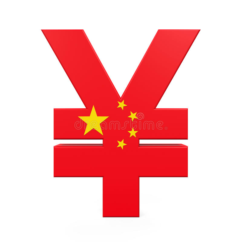 Chinese Yuan Symbol Stock Illustration Illustration Of Render