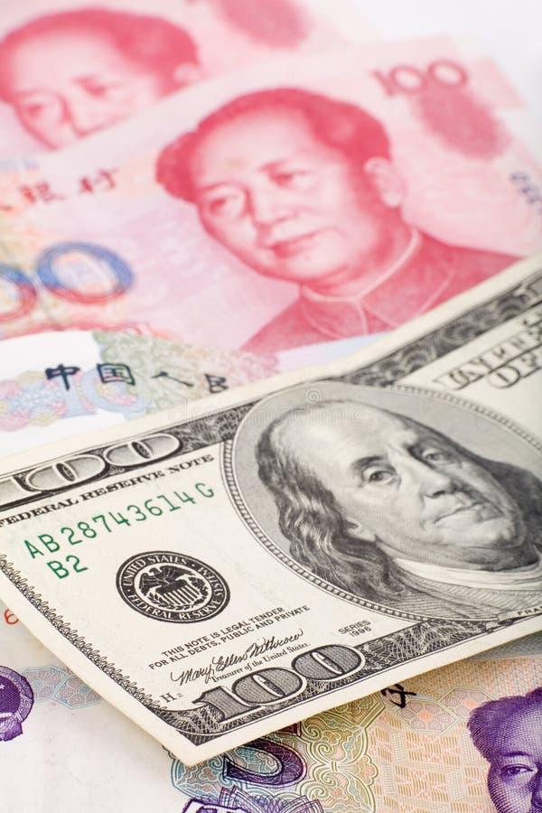 Chinese Yuan And Us Dollar Royalty Free Stock Photo