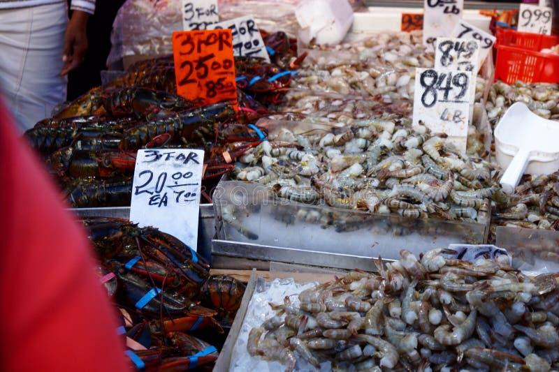 Chinese zeevruchtenmarkt stock afbeeldingen