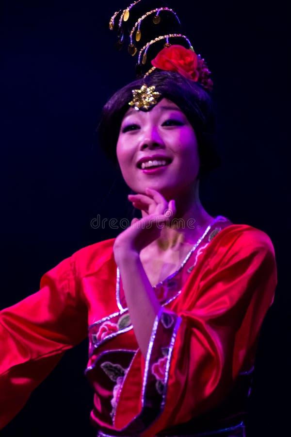 Chinese dancers. Zhuhai Han Sheng Art Troupe. stock photo