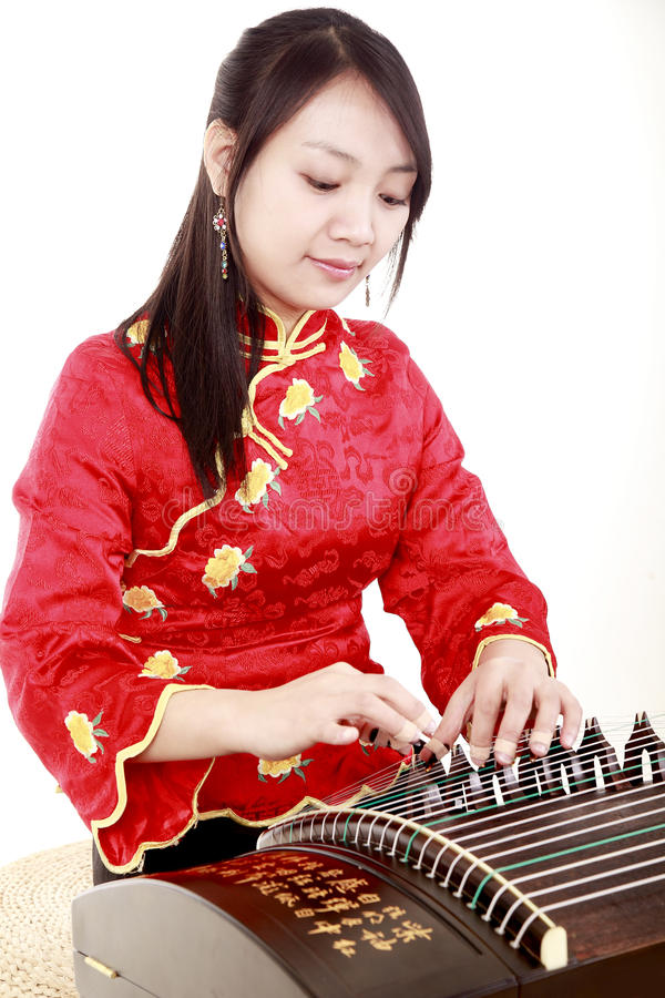 Download Chinese zither performer stock photo. Image of guzheng - 13485902