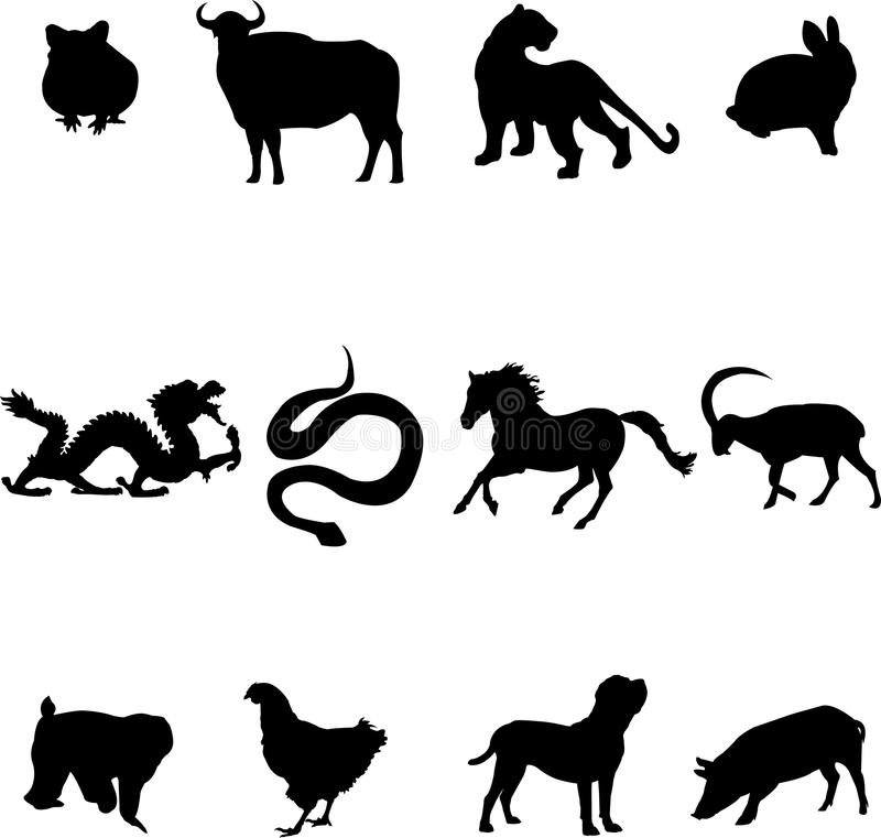 Free Chinese Zodiac Animals Royalty Free Stock Images - 11271109