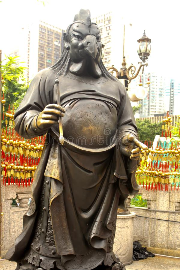 Chinese Zodiac Bronze Stature at Sik Sik Yuen Wong Tai Sin. Temple stock images