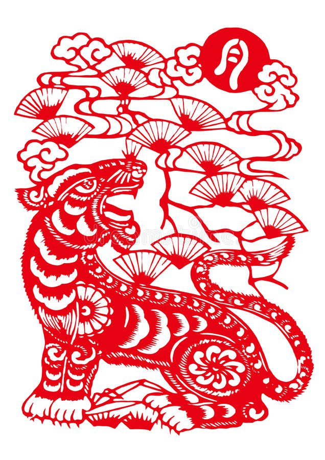 Free Chinese Zodiac Of Tiger Year Royalty Free Stock Photography - 9375697