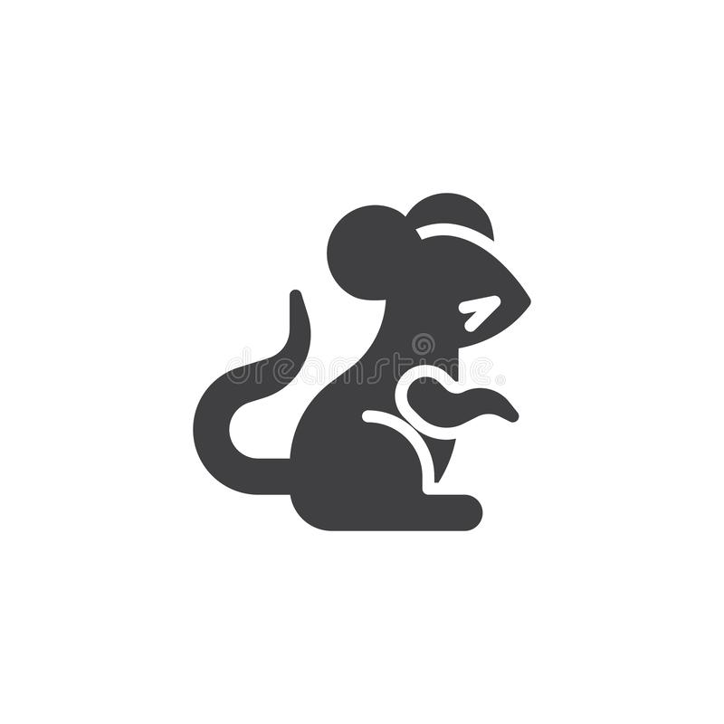 Chinese zodiac Rat vector icon stock illustration