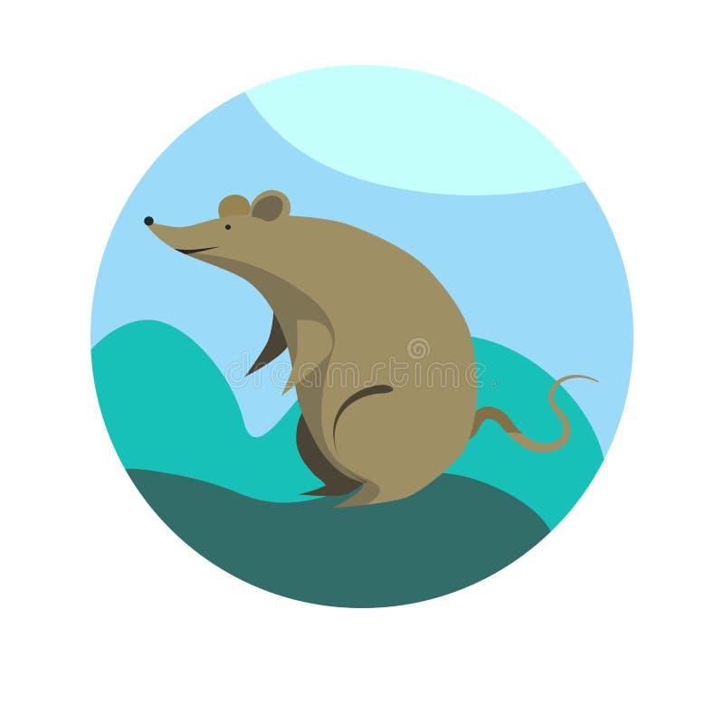 Chinese zodiac sign Rat vector horoscope icon or symbol vector illustration