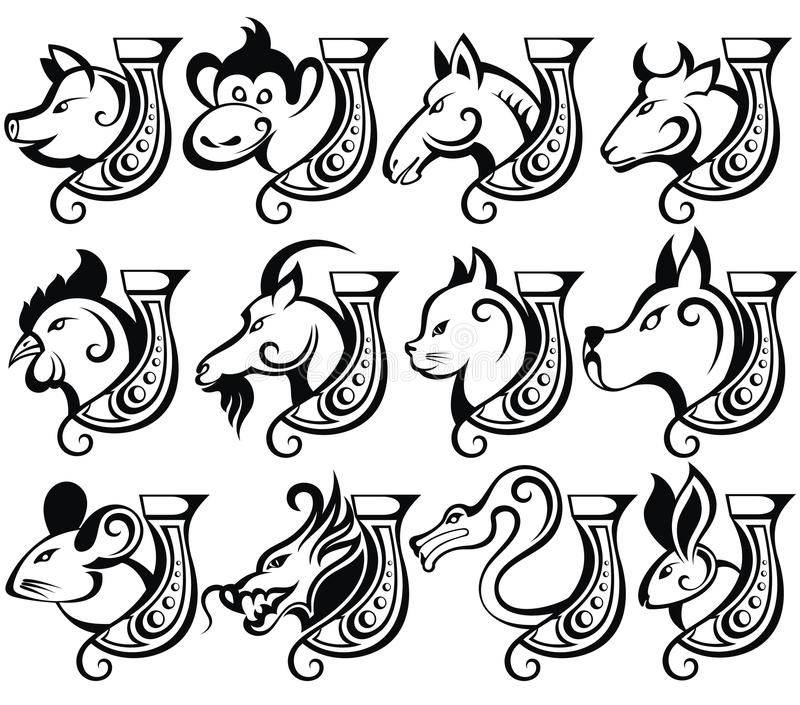 Chinese zodiac sign vector illustration