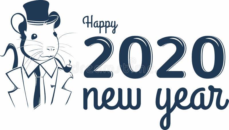 Chinese Zodiac Sign Year of Rat. Chinese New Year 2020 year of the rat. Chinese Zodiac Sign Year of Rat. Happy Chinese New Year 2020 year of the rat stock illustration