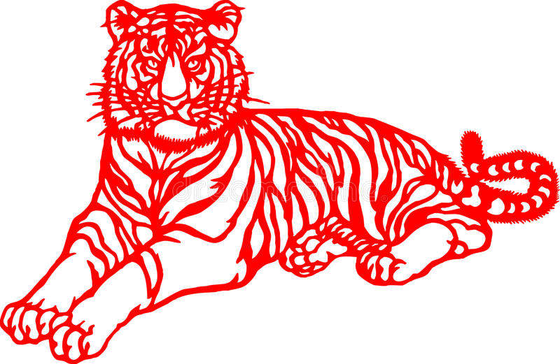 Chinese Zodiac of tiger year stock image