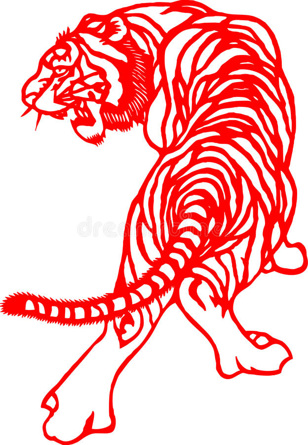 Chinese Zodiac of tiger year stock photos