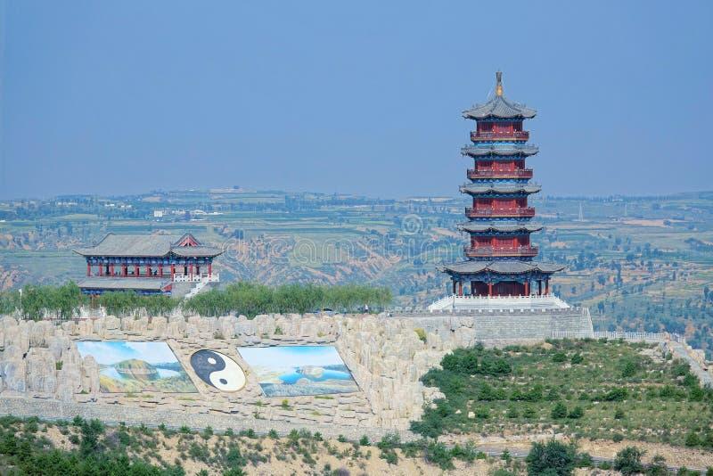 Chinese zolder en toren royalty-vrije stock foto's
