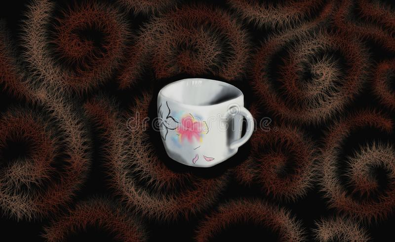 Chineseankop van T-stuk of koffie stock illustratie