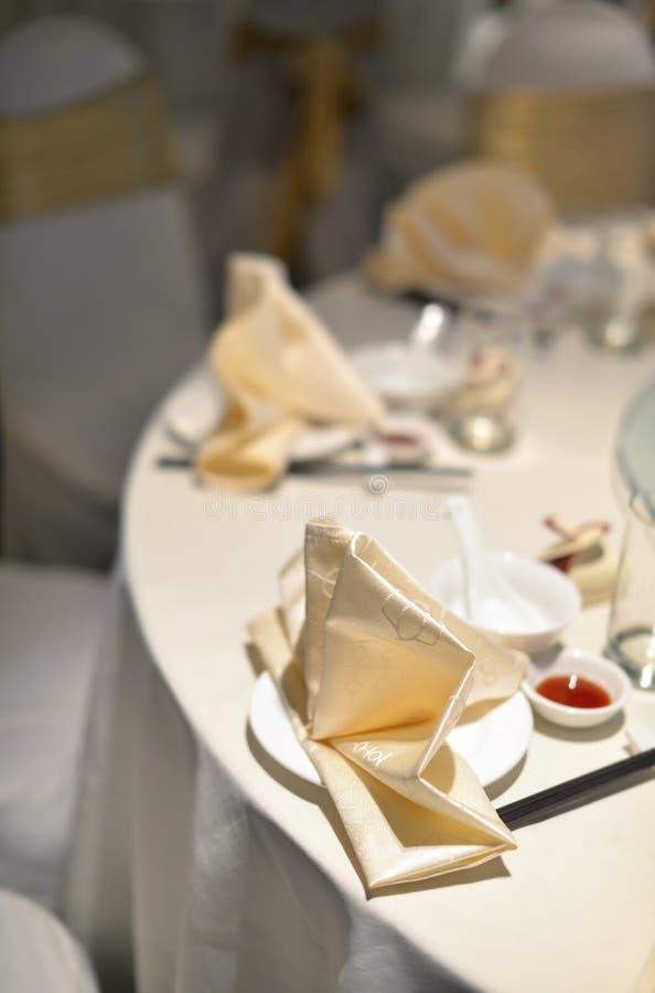 Chinesebankett-Hochzeitstabelle lizenzfreies stockfoto