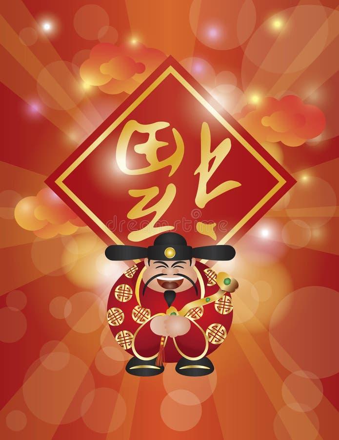 Download ChineseMoneyGodRuyiTextBgV stock vector. Image of fortune - 28557147
