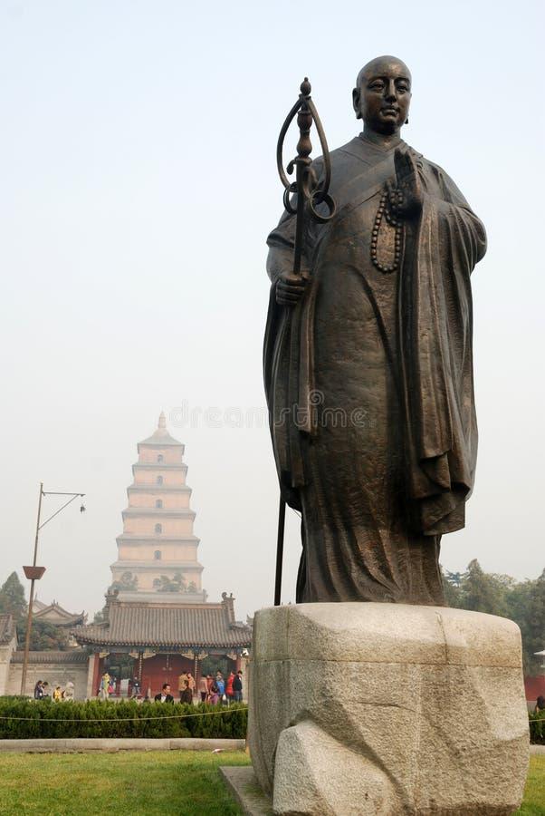 Chinesen jianzhen Mönchskulptur stockbild