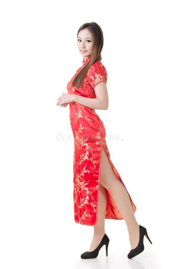 Chinesinkleidtraditionelles cheongsam stockfotografie
