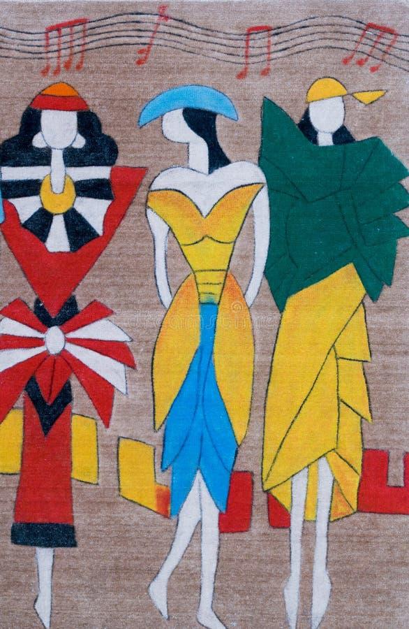 Chinesisch-ähnliche Wolldecke, Wanddekor stockbild