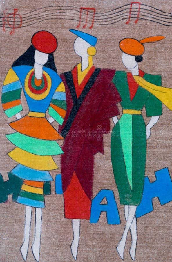 Chinesisch-ähnliche Wolldecke, Wanddekor stockbilder