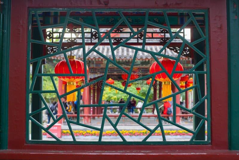 Chinesische alte Artlaternen stockbild