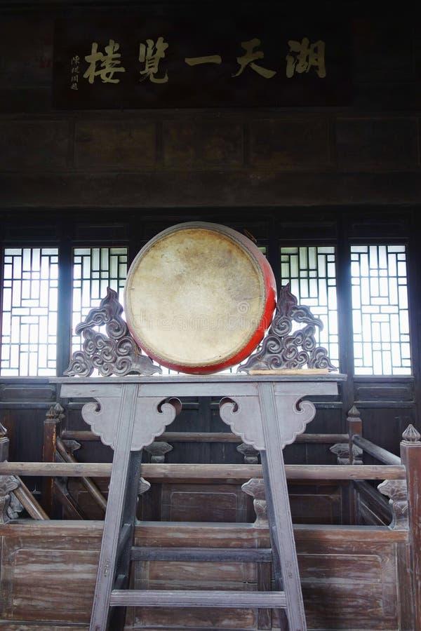 Chinesische alte Trommel stockbilder