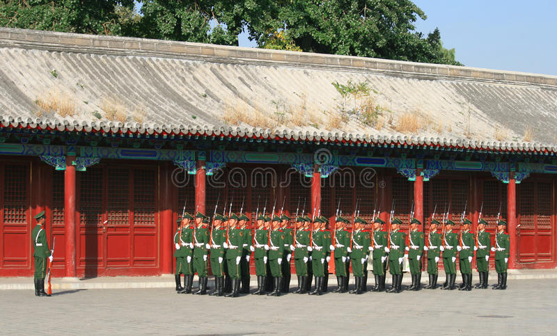 Chinesische Armee lizenzfreies stockbild