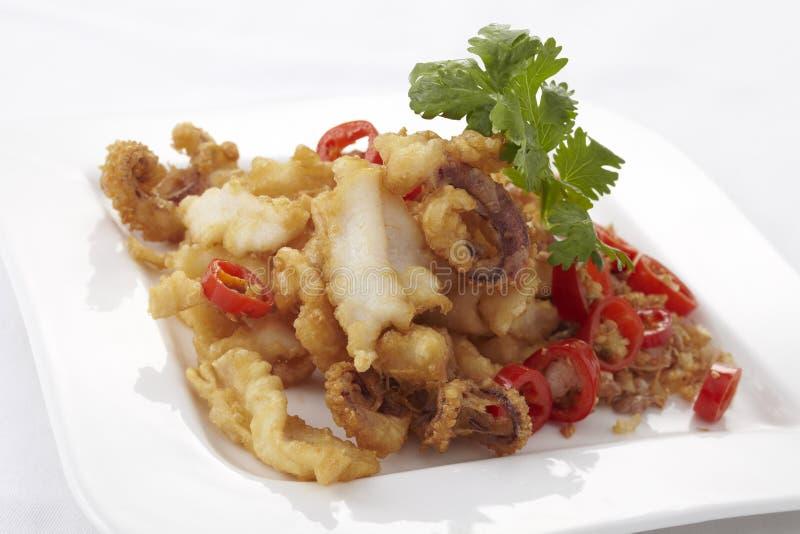 Chinesische Art Calamari stockfotografie