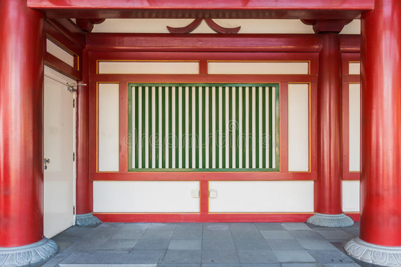 Chinesische Art der alten Wand lizenzfreies stockbild