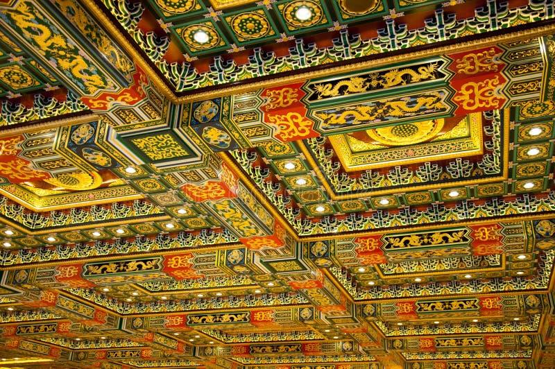 Chinesische Art der Tempeldecke stockfotos
