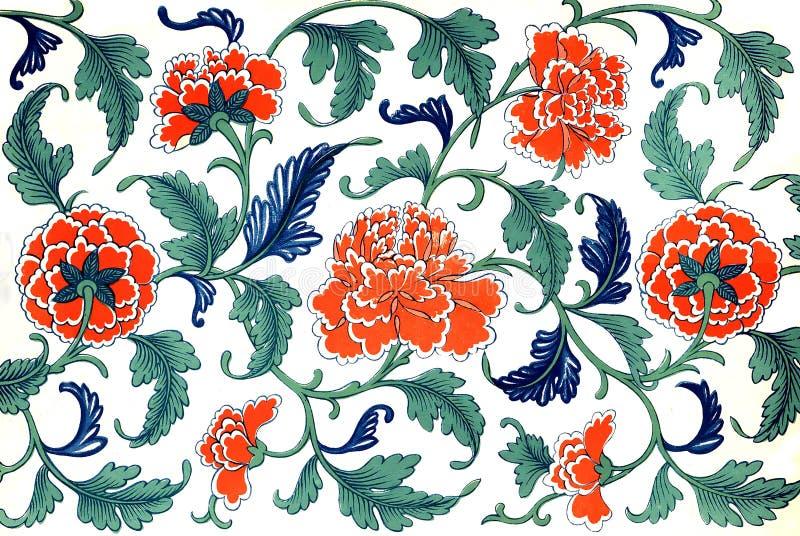 Chinesische Blumen stock abbildung