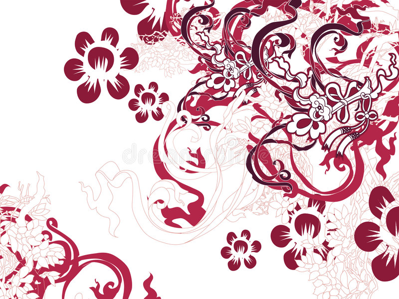 Chinesische Blumen-Blüte lizenzfreie abbildung