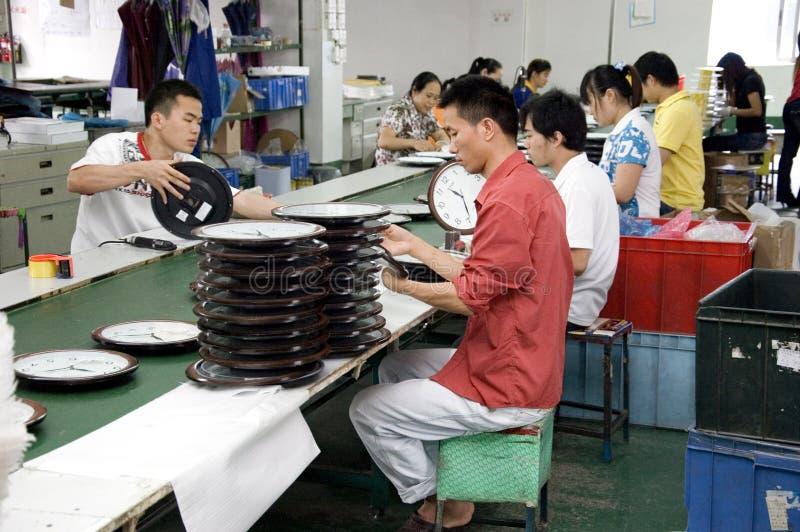 Chinesische Borduhrfabrik lizenzfreie stockfotos