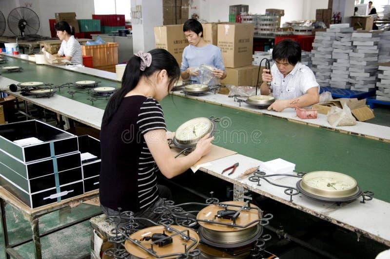 Chinesische Borduhrfabrik stockfotografie