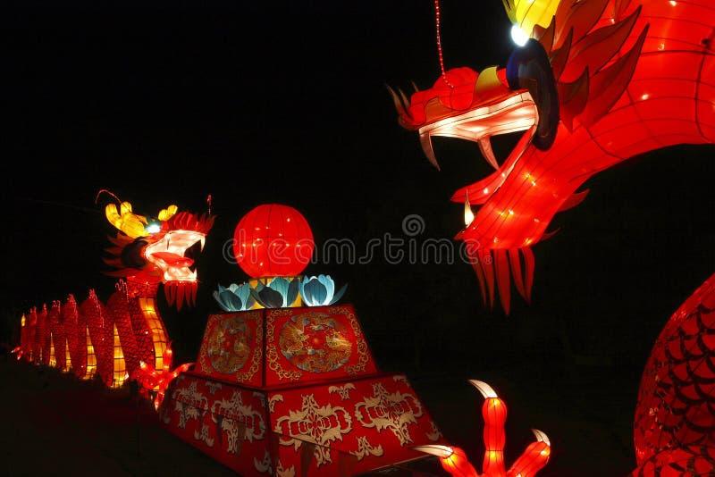 Chinesische Drachelaterne stockfotos