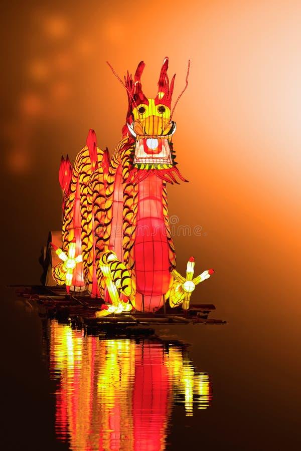 Chinesische Drachelaterne lizenzfreie stockbilder