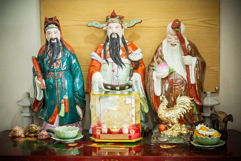 Chinesische Göttin genannt 'weißen Rheinwein Lok Siew ' stockfoto