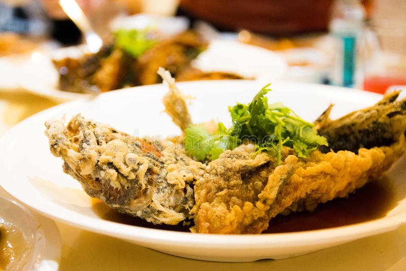 Chinesische gebratene Fische lizenzfreie stockbilder