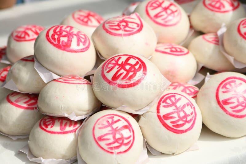 Chinesische gedämpfte Brötchen stockfotos