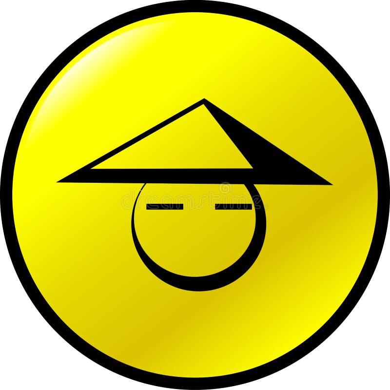 Chinesische Gesichtssymbol-vektortaste lizenzfreie abbildung