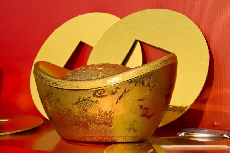 Chinesische Goldbarren lizenzfreie stockbilder