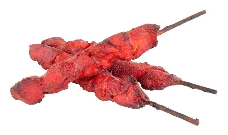 Chinesische Hühnerkebabs stockbild