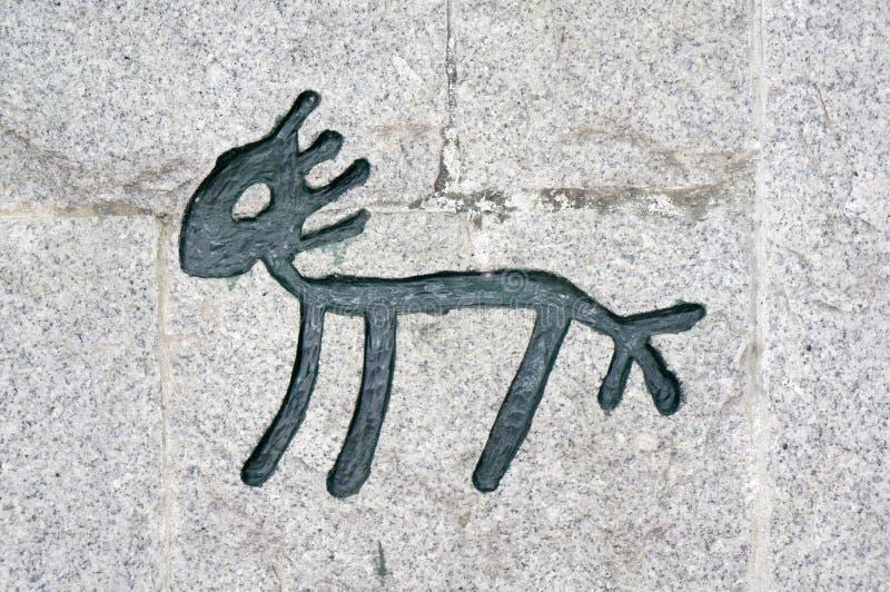 Chinesische Hieroglyphen des Pferds lizenzfreie stockfotos