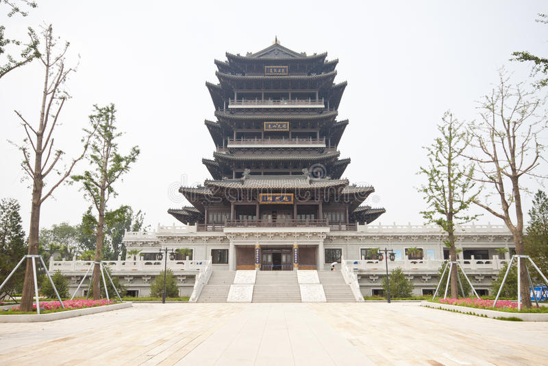 Chinesische historische Gebäude lizenzfreies stockfoto