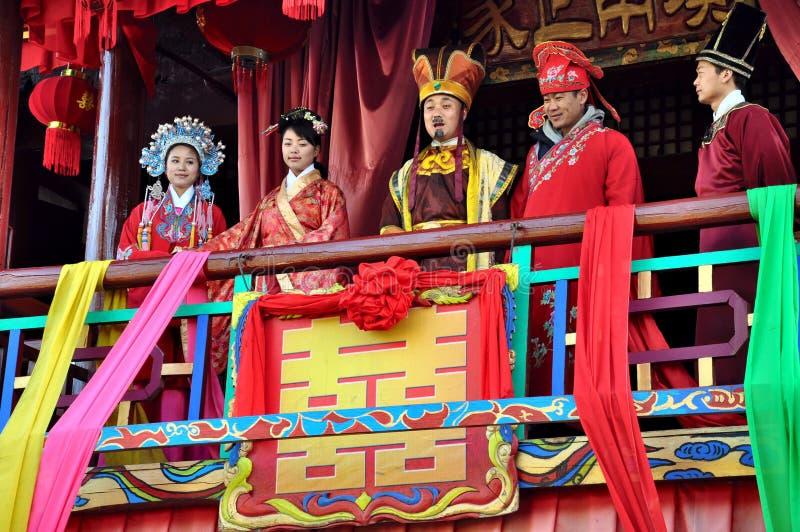 Chinesische Hochzeit stockbilder