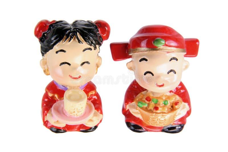 Chinesische Hochzeits-Paar-Figürchen lizenzfreie stockfotos