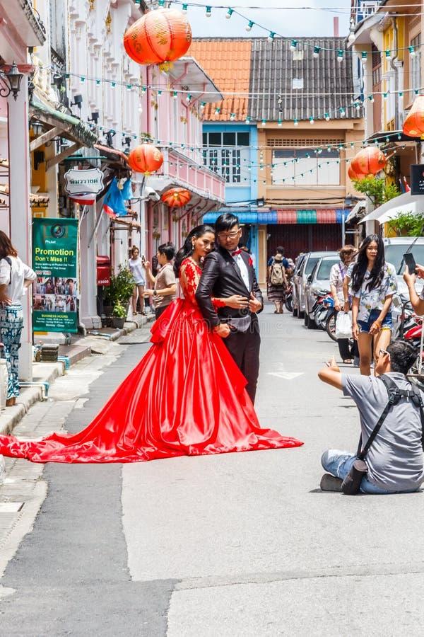 Chinesische Hochzeitspaare stockfotografie