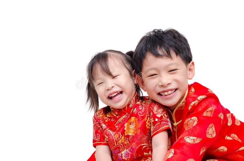 Chinesische Kinder im traditionellen Kostüm stockbilder