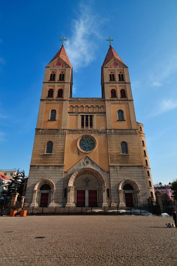 Chinesische Kirche in der Qingdao-Stadt stockfoto